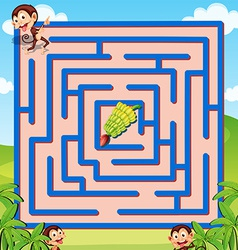 Maze game vector image vector image