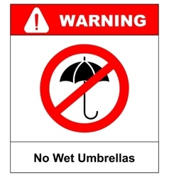 No umbrella with water drops rain protection vector