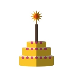 Party cake icon image vector