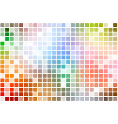 Rainbow colors occasional opacity mosaic over vector