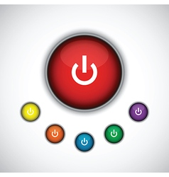 Red on button vector