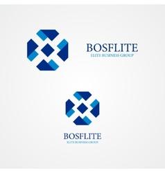 Ribbon design logo vector