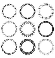 round decorative frames - set vector image