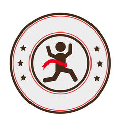 Runners athlete silhouette icon vector