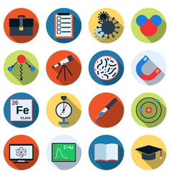 Science icons collection vector