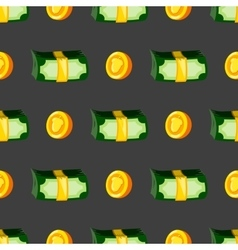 Seamless pattern with money vector