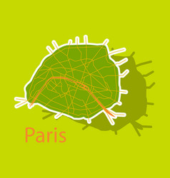 Sticker urban city map of paris france vector