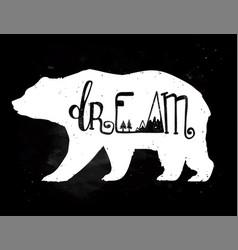 Vintage bear with slogan vector
