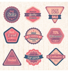Vintage sale labels and badges set vector image vector image