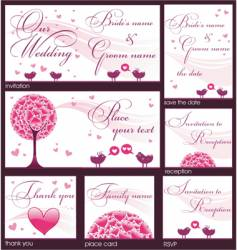 wedding reception card vector image