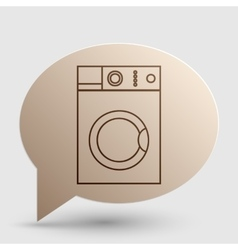 Washing machine sign brown gradient icon on vector