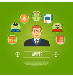Lawyer concept icons set vector