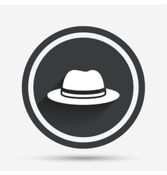 Top hat sign icon classic headdress symbol vector