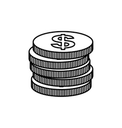 Coins money cash vector