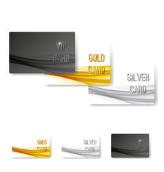 Vip status membership card template set vector