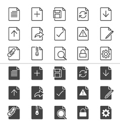Document icons thin vector