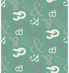 Ampersand seamless pattern vector