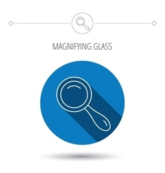 Search icon magnifying glass sign vector