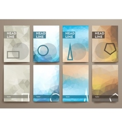 Set of abstract brochures in poligonal style vector