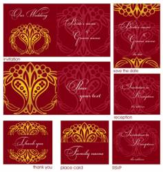 Reception cards vector
