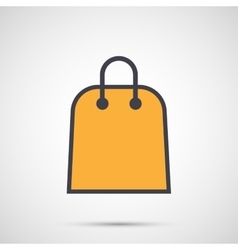 Women bag with handles icon vector