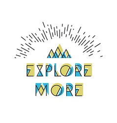 Explore more abstract icon wilderness typography vector