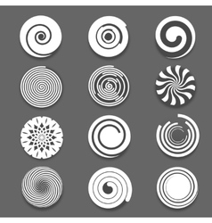 Motion spiral swirl set vector