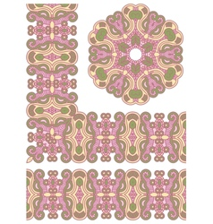 Ornamental seamless pattern vector