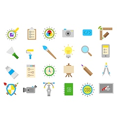 Graphic design isolated icons set vector