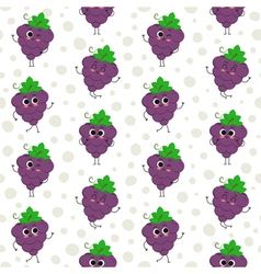 Grapes seamless pattern vector