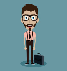 Businessman office salesman guy funny cartoon vector