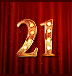 Celebrating of 21 years anniversary vector