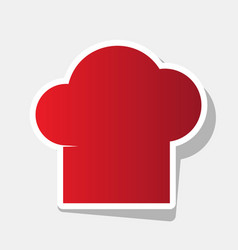 Chef cap sign new year reddish icon with vector