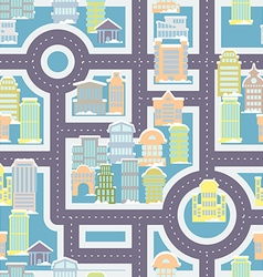 City street seamless pattern Public buildings and vector image
