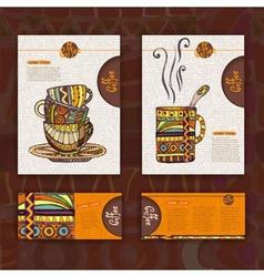 Corporate identity Menu Cup of coffee vector image vector image