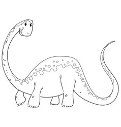 doodles drafting animal for cute dinosaur vector image vector image