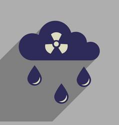 Flat web icon with long shadow toxic rain vector
