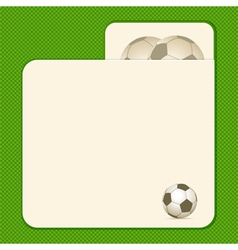 Football card background vector
