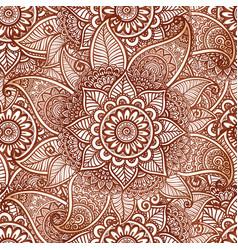 Indian mehndi henna tattoo style seamless vector