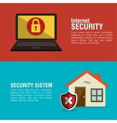 Internet home smart security system vector