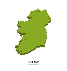 Isometric map of Ireland detailed vector image