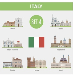 Italy cities vector image vector image
