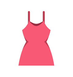 little pink dress icon flat style vector image vector image