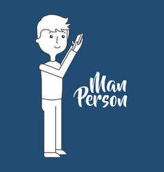 Man person icon vector