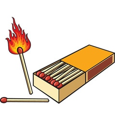 Matches and a matchbox icon vector