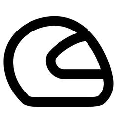 Motorcycle Helmet Stroke Icon vector image vector image