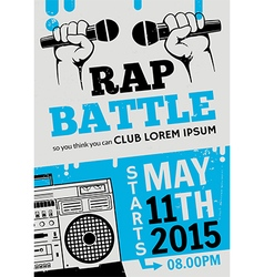 Rap battle concert hip-hop music poster vector image vector image