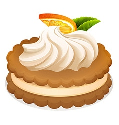 Sandwich cookie with cream and orange vector image vector image