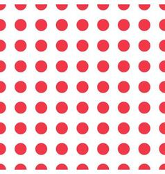 seamless pattern red peas vector image vector image