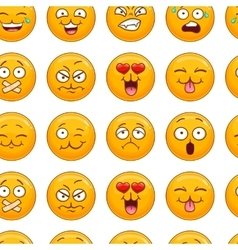 Seamless pattern with smiley face vector